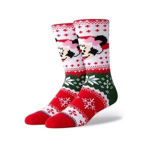 Stance Minnie Clause Crew Socks Med 8-10.5/ Lg 11+